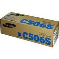 Тонер-картридж Samsung CLT-C506S SU049A голубой оригинальный