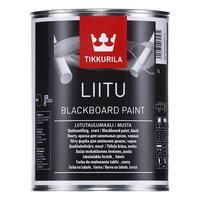 Краска декоративная для школьных досок Tikkurila Liitu черная 1 л