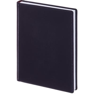 Ежедневник недатированный Альт Velvet искусственная кожа Soft Touch A5+ 136 листов темно-синий (146х206 мм)