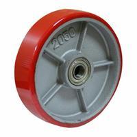 Колесо для тележки рулевое полиуретановое 200x50 мм без подшипника