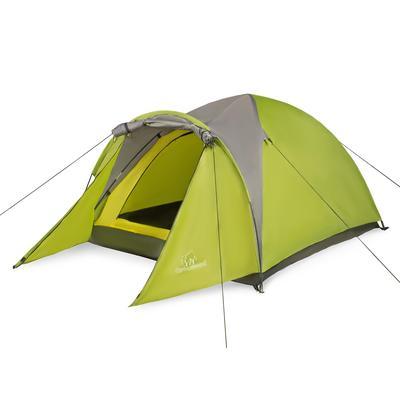 Палатка трехместная Greenwood Target 3 зеленая/серая