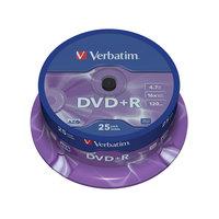 Диск DVD+R Verbatim 4,7 GB 16x (25 штук в упаковке)