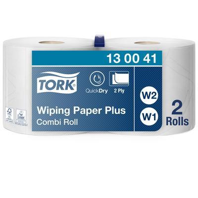 Протирочная бумага Tork Плюс W1/W2 130041 белая (2 рулона по 255 метров)