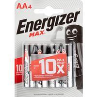 Батарейки Energizer Max пальчиковые AA LR6 (4 штуки в упаковке)