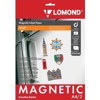 Фотобумага для цветной струйной печати Lomond с магнитным слоем (матовая, А4, 620 г/кв.м, 2 листа, артикул производителя 2020346)