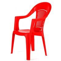 Кресло пластиковое Фламинго красное (560x580x900 мм)
