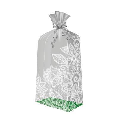 Пакет подарочный полипропиленовый Кружева (50x22x14 см, 10 штук в упаковке)
