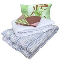 Набор 1-спальный (одеяло 140x205 см, подушка 50x70 см, матрас 80x190 см,  комплект постельного белья 65 г/кв.м)