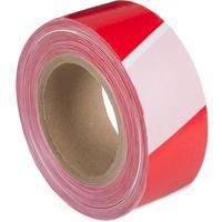 Лента оградительная красная/белая 50 мм х 250 м