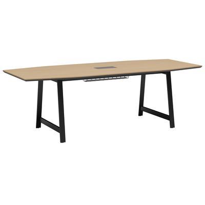Стол для переговоров Avizo 145S021 на металлокаркасе с кабель-каналом  (дуб парма/графит, 2400х1000х750 мм)