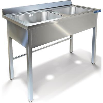 Ванна моечная ВМ-22/456 на две ёмкости (сталь, 1200х600х850 мм)