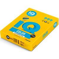 Бумага цветная для печати IQ Color желтая интенсив IG50 (А4, 80 г/кв.м, 500 листов)