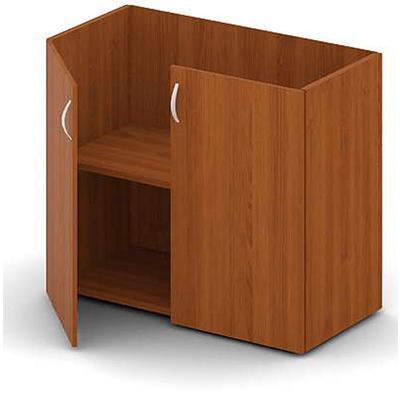 Шкаф Лидер низкий (миланский орех светлый, 896x438x734 мм)