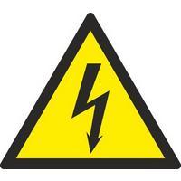Знак безопасности Опасность поражения электрическим током W08 (150х150 мм, пленка ПВХ, 10 штук в упаковке)