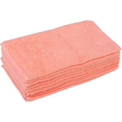 Полотенце махровое Светофор 70х140 см 360 г/кв.м персиковое 10 штук в упаковке