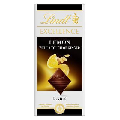 Шоколад Lindt Excellence темный с лимоном и имбирем 100 г
