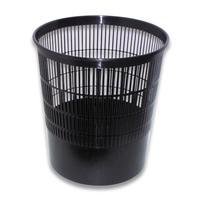 Корзина для мусора Стамм 18 л пластик черная (29.5х33 см)