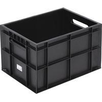 Ящик (лоток) для молока Фин-пак из ПНД 400х300х270 мм черный