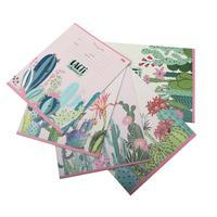 Тетрадь школьная Цветущие кактусы А5 12 листов в клетку (обложка в ассортименте)