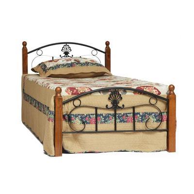 Кровать Румба AT-203 (черная/красный дуб, 950х2100х800 мм)