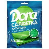 Салфетка хозяйственная Dora микрофибра 30х30 см зеленая