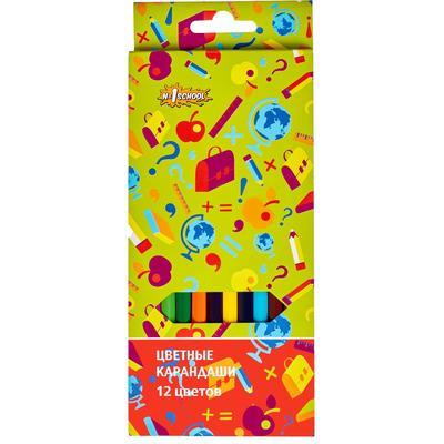 Карандаши цветные №1 School Отличник 12 цветов шестигранные