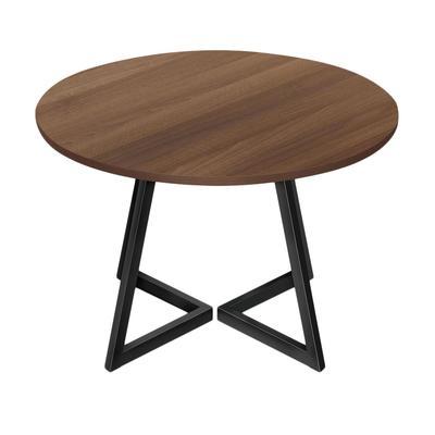 Стол обеденный Энги-6 (орех/черный, 1000х1000х760 мм)