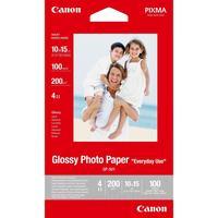 Фотобумага для цветной  струйной печати Canon односторонняя (глянцевая, 10x15 см, 200 г/кв.м, 100 листов, артикул производителя GP-501/A6/210/0775B003)