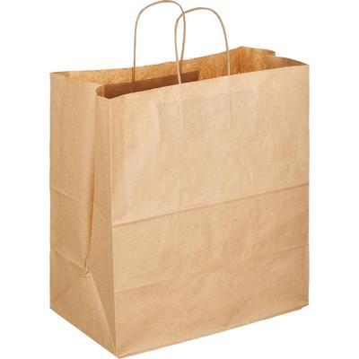 Крафт пакет бумажный бежевый с крученными ручками 35x15x45 см 150 штук
