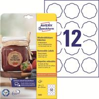 Этикетки самоклеящиеся Avery Zweckform Stick&Lift белые 60х59.5 мм (12 штук на листе, 10 листов в упаковке)