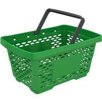 Корзина покупательская Evr Jazz (зеленая, пластик)