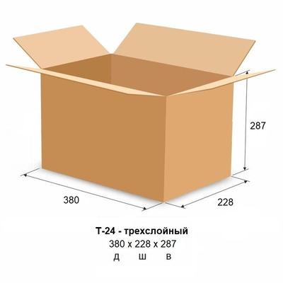 Гофрокороб 380х228х287 мм Т-24 бурый (20 штук в упаковке)