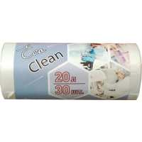 Мешки для мусора на 20 л Ecoclean белые (ПНД, 6 мкм, в рулоне 30 шт, 42х50 см)