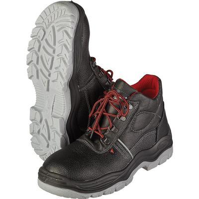 Ботинки Lider натуральная кожа черные с металлическим подноском размер 37