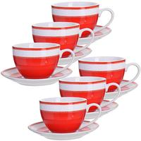Сервиз чайный Loraine (28577) на 6 персон фарфор (6 чашек 220 мл, 6 блюдец 13.5 см)