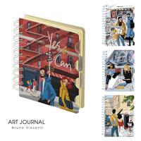Блокнот Bruno Visconti Art Journal А5 120 листов в клетку/линейку/точку  на спирали (обложка в ассортименте)