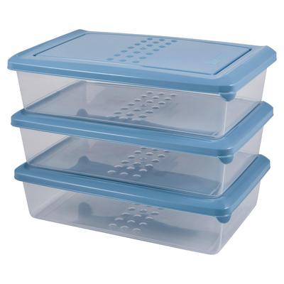 Набор контейнеров для СВЧ Pattern 3 предмета (артикул производителя PT9856ТГ-13)