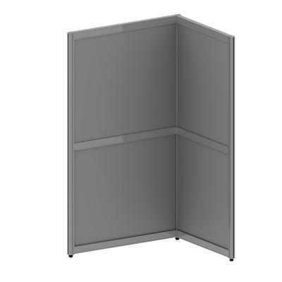Офисные перегородки  RV_ EasyAux Модуль дополнительный 1 рабочее место 800х700х1500 серый
