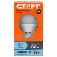 Лампа светодиодная Старт ECO 7 Вт E27 грушевидная 4000K нейтральный белый свет