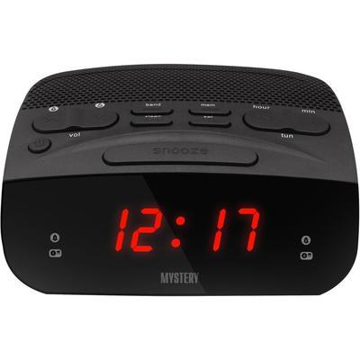 Радиобудильник Mystery MCR-23 черный (красный дисплей)