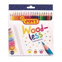 Карандаши цветные Jovi Wood-less 24 цвета трехгранные
