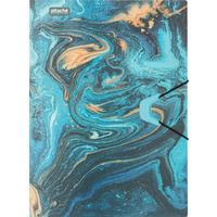 Папка на резинке Attache Selection Fluid А4+ 18 мм пластиковая до 200 листов бирюзовая (толщина обложки 0.45 мм)