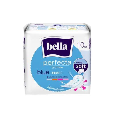 Прокладки женские гигиенические Bella Perfecta Ultra Blue 10 штук в упаковке