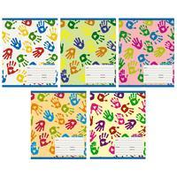 Тетрадь школьная Канц-Эксмо Яркие отпечатки А5 24 листа в линейку на скрепке (обложка в ассортименте)