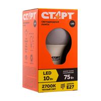 Лампа светодиодная Старт ECO 10 Вт E27 грушевидная 2700K теплый белый свет
