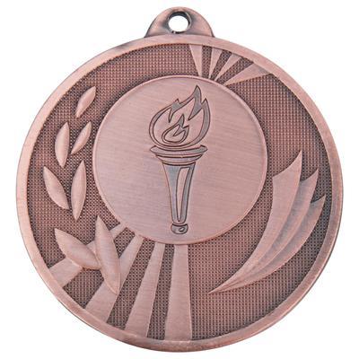 Медаль призовая Факел 50 мм бронзовая