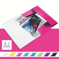 Папка на резинке Leitz Wow А4 15 мм пластиковая до 150 листов розовая (толщина обложки 0.5 мм)