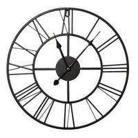 Часы настенные Black Metal Clock (40x40 см)