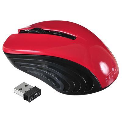 Мышь компьютерная Oklick 545MW черно-красная