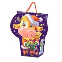 Новогодний сладкий подарок Гаврюша в картонной коробке 600 г (с пазлом)